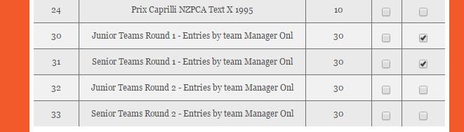 Enter Team Classes